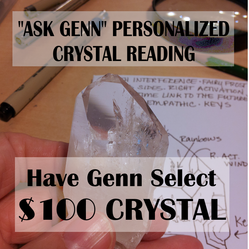 (5) CRYSTAL FOR READING $100