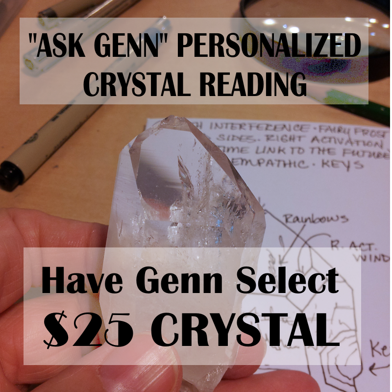 (2) CRYSTAL FOR READING $25