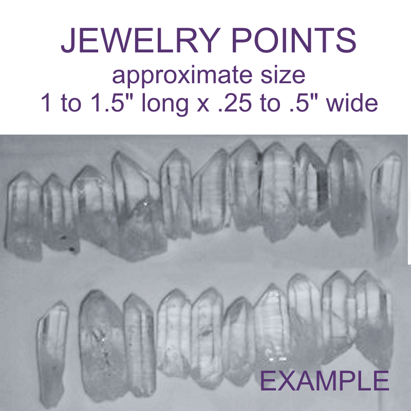 Crystal Points for Jewelry