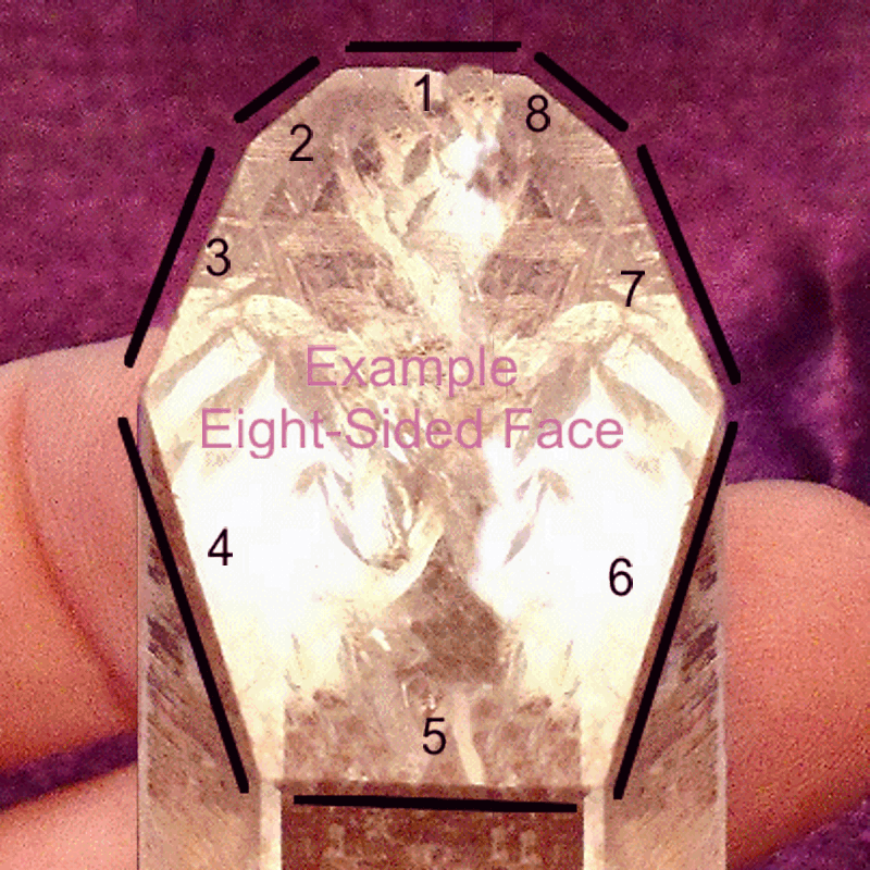 Eight-Sided Face (Grounding) Quartz Crystal