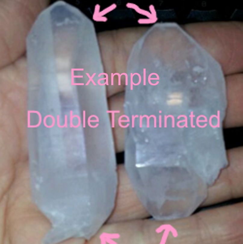 Double Terminated Quartz Crystal