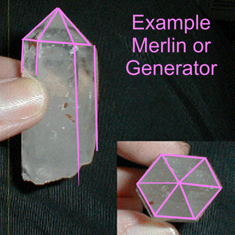 Generator (Merlin) Quartz Crystal