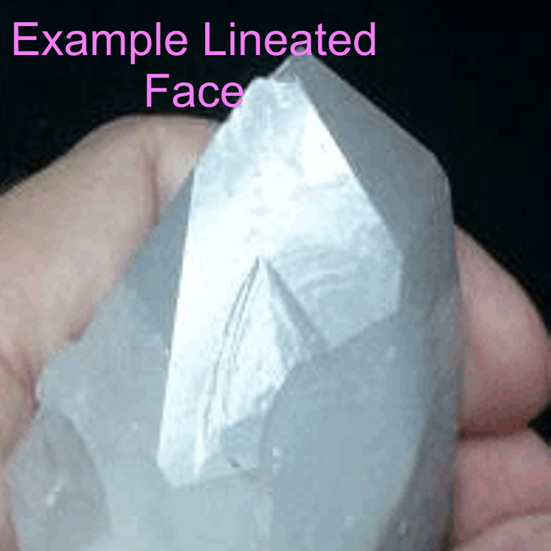 Lineated Face Quartz Crystal