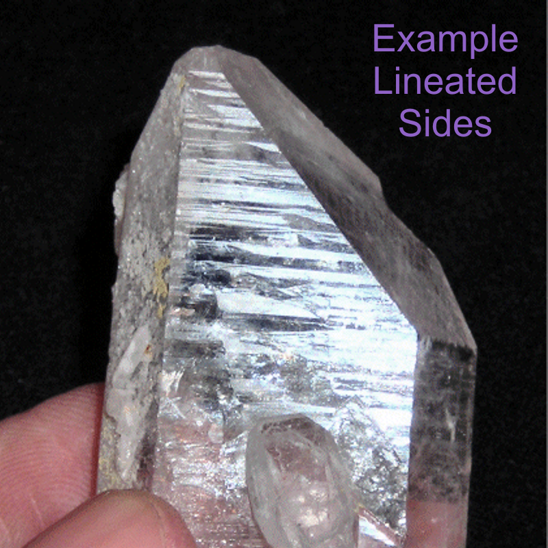 Lineated Sides Quartz Crystal