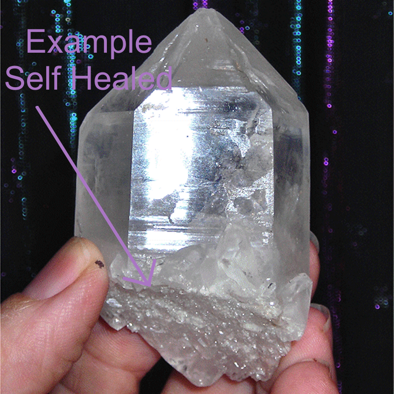Self Healed Quartz Crystal