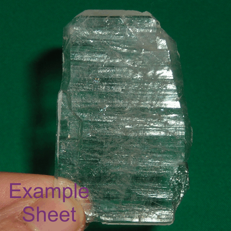 Sheet Quartz Crystal