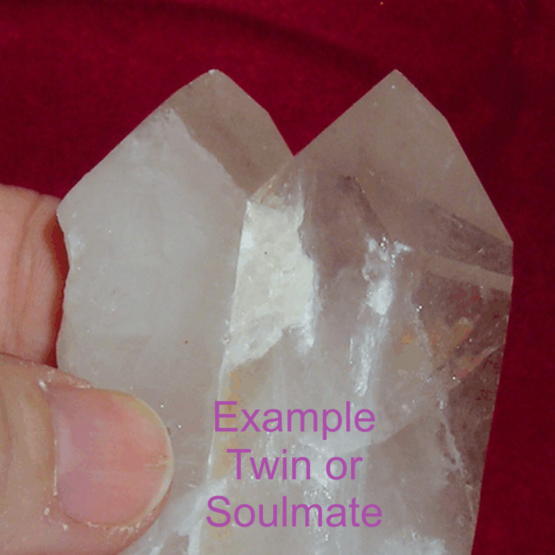 Soulmate or Twin Soul Quartz Crystal