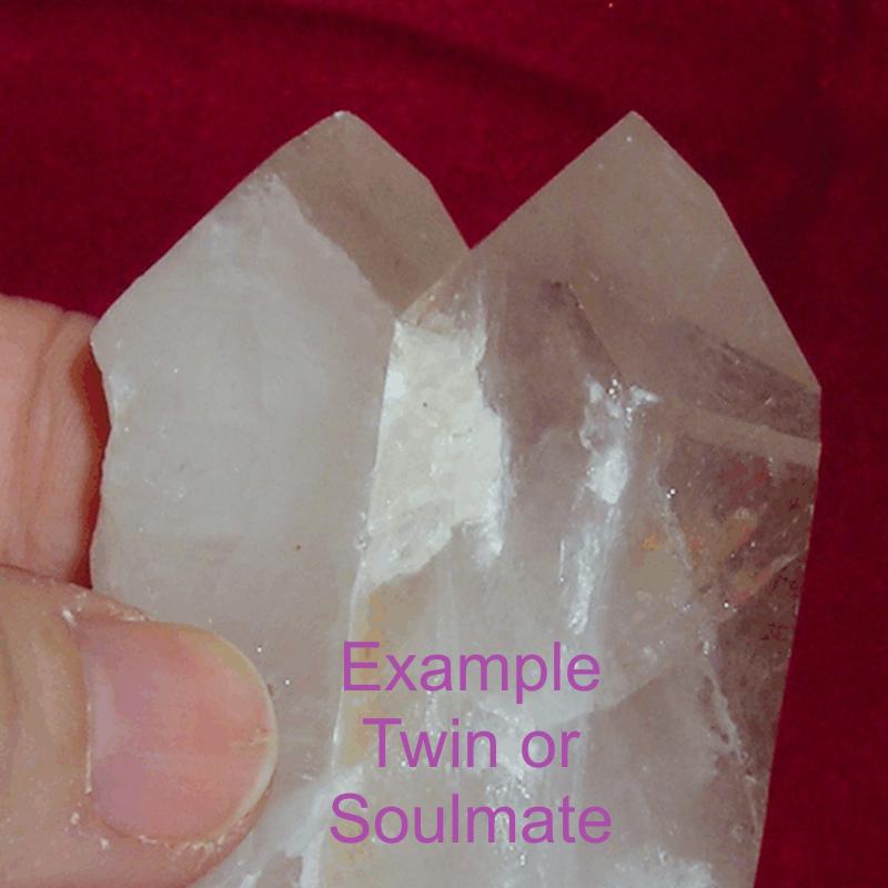 Soulmate or Twin Soul Quartz Crystal