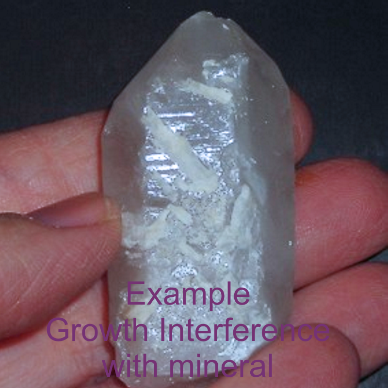Growth Interference Quartz Crystal