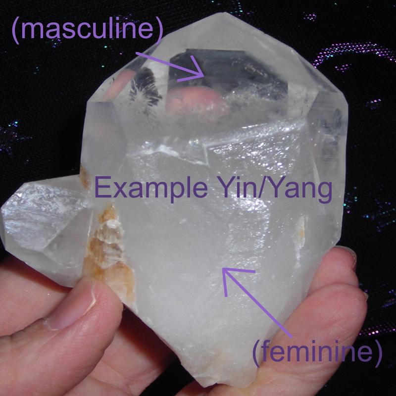 Yin/Yang Quartz Crystal