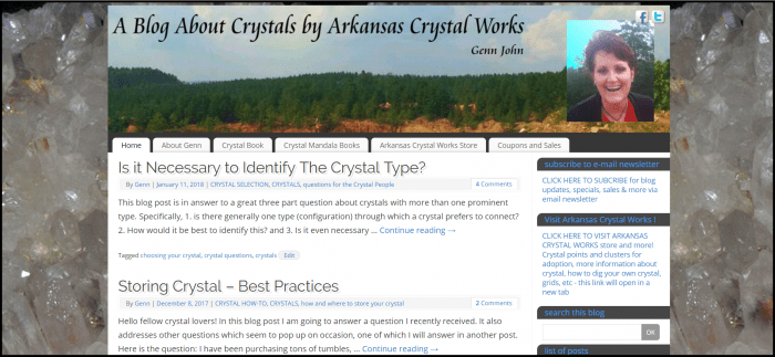 learn about the benefits of crystals at www.crystalgenn.com