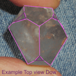 Dow crystal top view