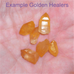 Golden healer crystal