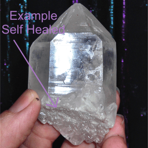 image self healed crystal