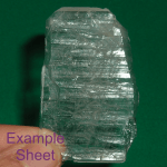 sheet crystal