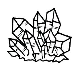 Cluster Quartz Crystal