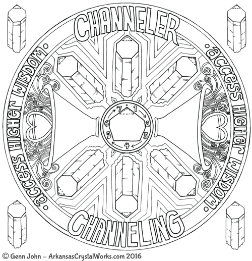 Channeling or Channeler Quartz Crystal