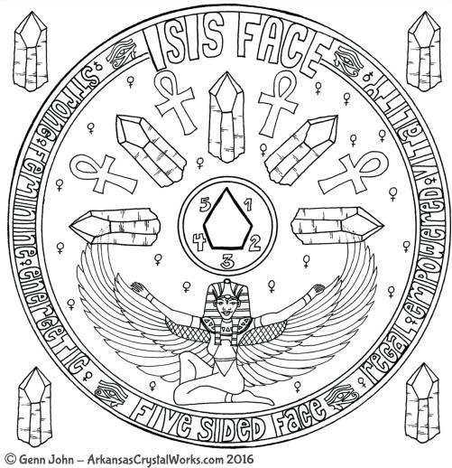 Five-Sided Face Goddess Quartz Crystal