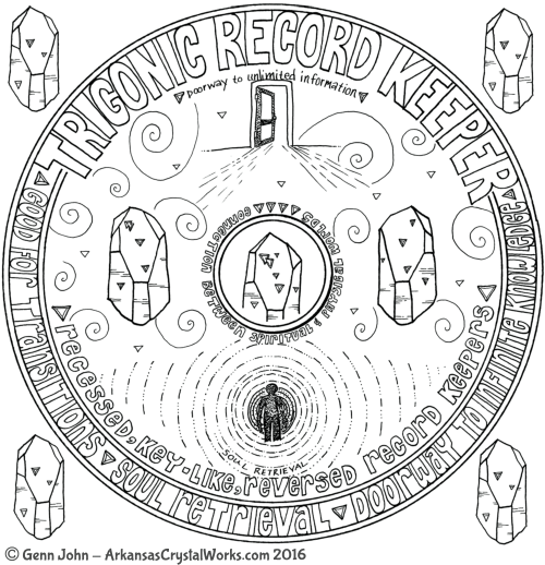 Trigonic Record Keeper Quartz Crystal