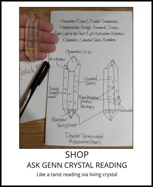 image: Ask Genn Crystal Reading - like a tarot reading via living crystal at Arkansas Crystal Works