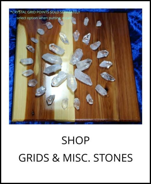 image: grids, grid boards, miscellaneous gem stones