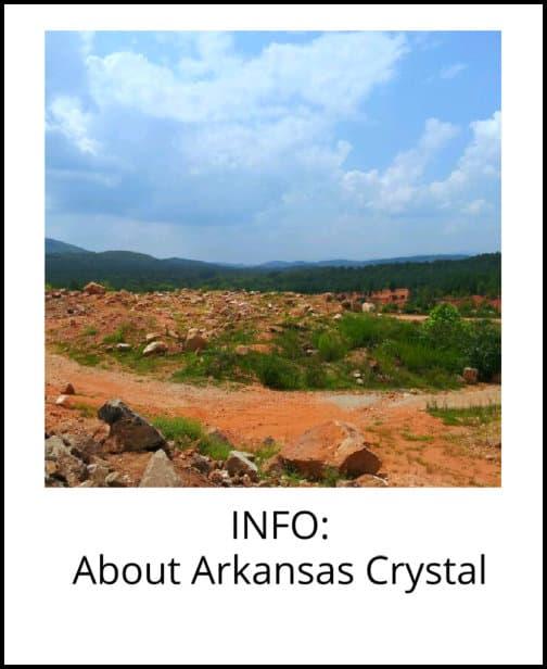 image: information about Arkansas quartz crystal