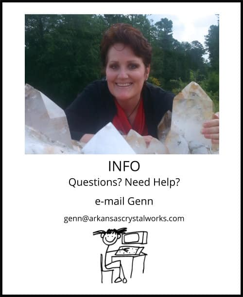 image: email Genn John at Arkansas Crystal Works