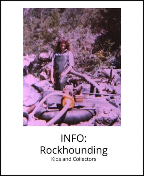 image: information about rock hounding at Arkansas Crystal Works