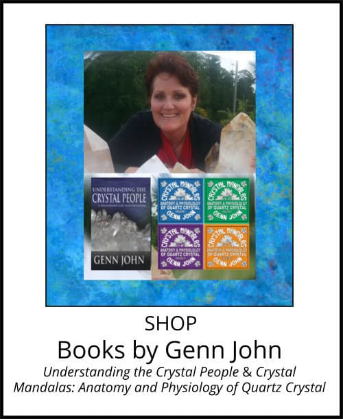image: books by Genn John at Arkansas Crystal Works