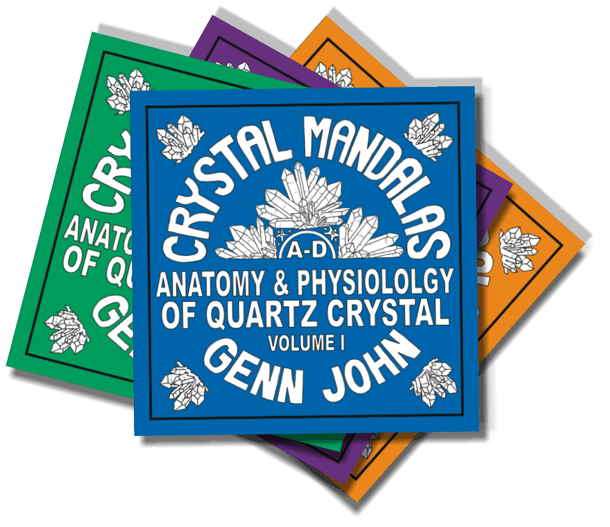 image Crystal Mandalas - Anatomy and Physiology of Quartz Crystal by Genn John Set of 4
