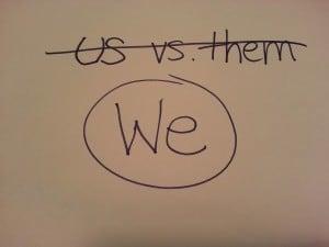 us versus them poster