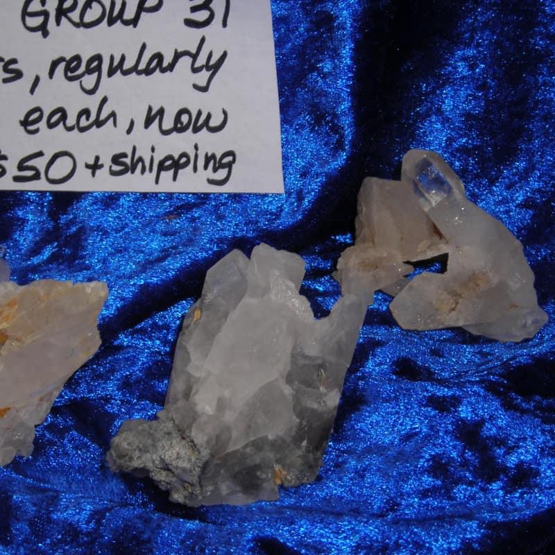 Quartz Crystal Cluster Group 31