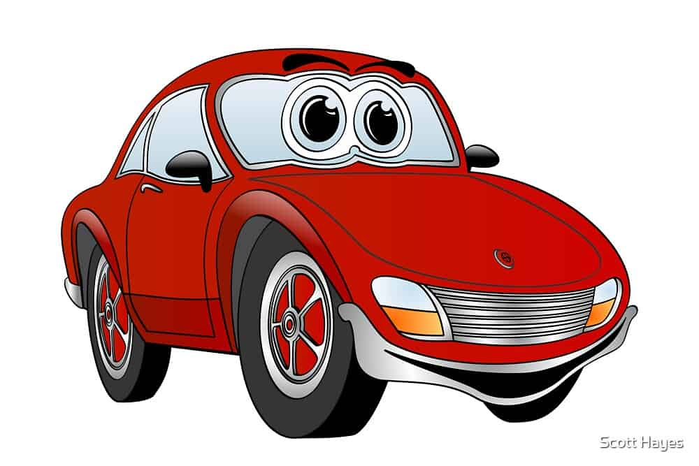 Law of Attraction red sports car